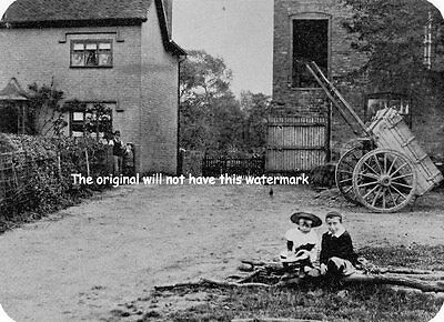 Birmingham History The Mill Children Edgbaston Lane 1898 Vintage Print Mounted