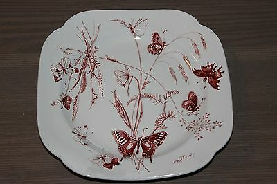 Spode Cecil Beaton Annual 1970 Collectible Plate  Butterflies