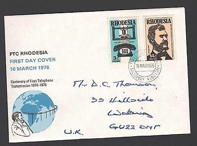 RHODESIA 1976 FDC FIRST TELEPHONE  Alexander Graham Bell