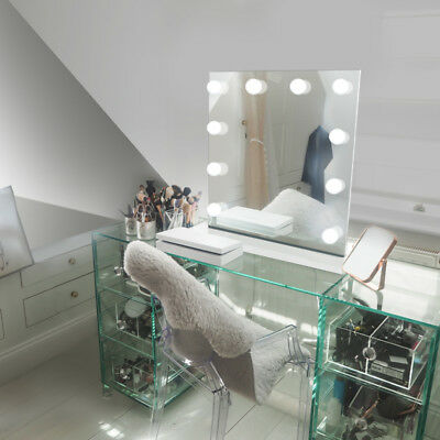 Diamond X Table Top Hollywood Makeup Mirror with Daylight Dimmable LED k89sCW