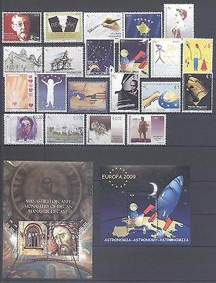 Kosovo 2009 Complete Stamp Year Set With Souvenir Sheets Mnh Very Fine