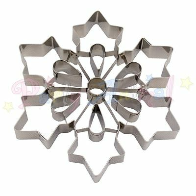 ATECO Giant / Large Snowflake Sugarcraft Cookie Cutter. Xmas Christmas Pastries