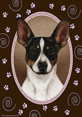 Garden Indoor/Outdoor Paws Flag - Rat Terrier (Tri) 171301
