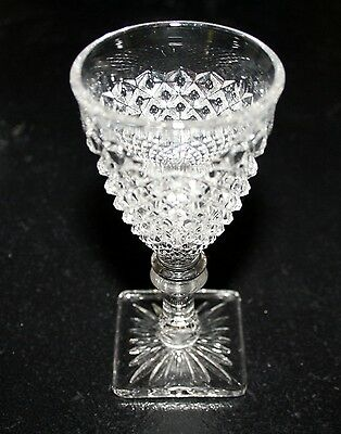 SET 14 Westmoreland English Clear Hobnail Cocktail Glasses Sherry Liqueur Glass