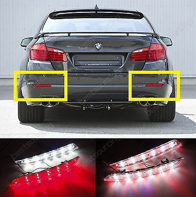 BMW 5 Series LED Rear Bumper Reflector Brake Reverse Tail Stop Light F10 F11 F18