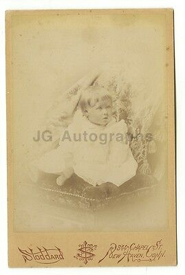 19th Century Children - Original 19th Century Cabinet Card Photo - New Haven, CT