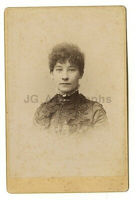 19th Century Fashion - Original 19th Century Cabinet Card Photo - New Haven, CT