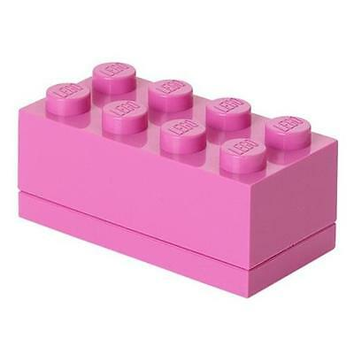 LEGO Brick Mini Box 8 PINK Snack Food Container Lunch Storage Plastic