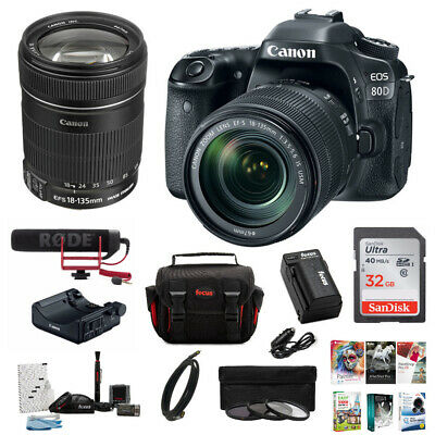 Canon EOS 80D Video Creator Kit with 18-135mm lens and 64GB Deluxe Bundle