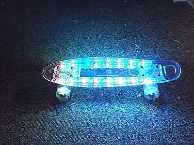 """70""""s Style Penny Style with Full Led Light Skateboard ABEC 7 Cruiser Board USB"""