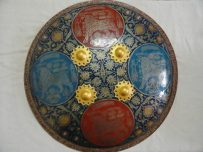 Islamic Battle Shield Naad-E-Ali Arabic Calligraphy Colour Hand Work Rare Me65