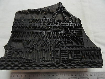 Islamic Antique Mecca Madina Hand Carved Wooden Textile Printing Stamp W751 • CAD $378.19