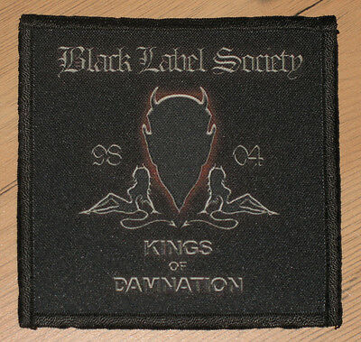 """BLACK LABEL SOCIETY """"KINGS OF DAMNATION"""" silk screen PATCH"""