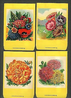 Collection of 4 Antique Seed Packets