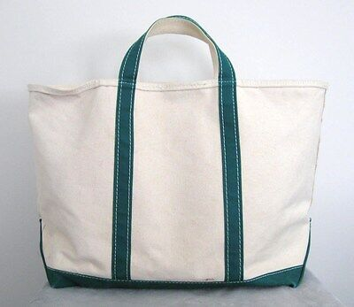Vintage LL Bean Canvas Large Zippered Boat & Tote