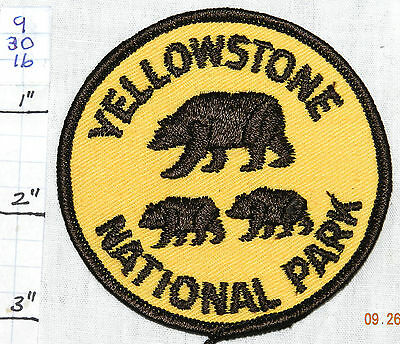 Wyoming, Yellowstone National Park Grizzly Bears Patch