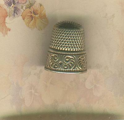Sterling Silver Goldsmith & Stern Thimble w/ Gold over Sterling Band