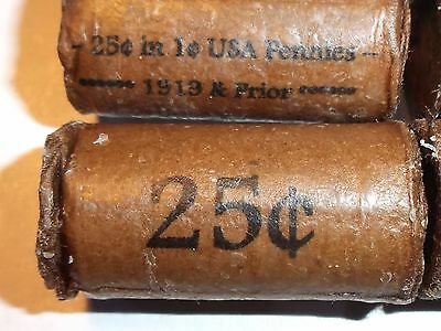Teens&Prior! Tight Wax Coated 25 Cent Roll: Indian & Indain Silver/1909's or?? 5