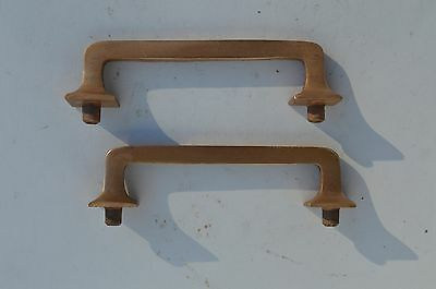 2 Fine Art And Craft Heavy Gauge Solid Bronze Furniture Drawer Pulls