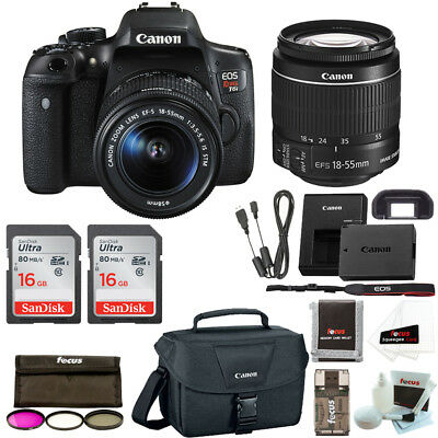 Canon EOS Rebel T6i DSLR Camera with 18-55mm Lens and 32GB SD Card Bundle