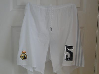 Real Madrid Home Shorts 2015-16 Size Large No 5 Bnwt