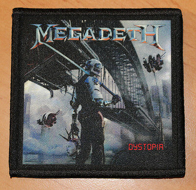 """MEGADETH """"DYSTOPIA"""" silk screen PATCH"""