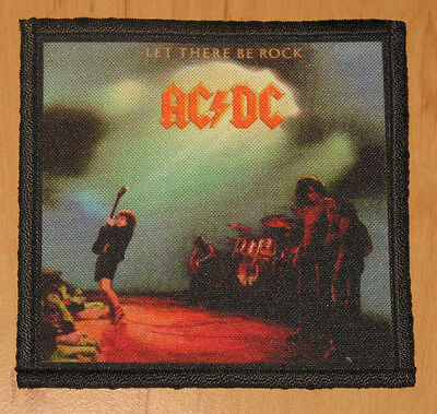 "AC/DC ""LET THERE BE ROCK"" silk screen PATCH"
