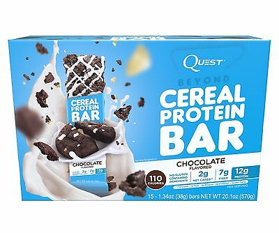 Quest Nutrition BEYOND CEREAL PROTEIN BARS Allulose Sweetener BOX OF 15