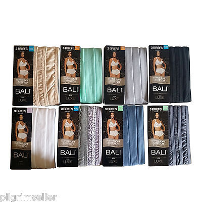 Bali Women's Luxe Cotton 3-Pack Brief Panty (wholesale lot of 69 )