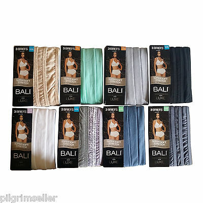 Bali Women's Luxe Cotton 3-Pack Brief Panty (wholesale lot of 73 )