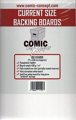100 x Comic Concept Current Age Backing Boards - Acid Free Archival Safe