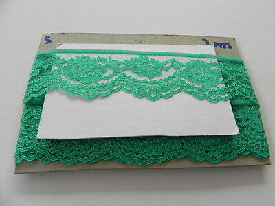 Card of New Lace - Emerald Green
