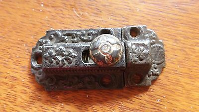 Antique Fancy Victorian Iron Cabinet Latch c1885 Excellent