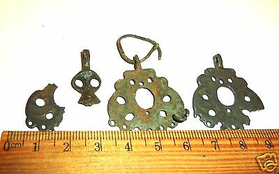 Set of 4 Ancient  MEDIEVAL decorations  (#553)