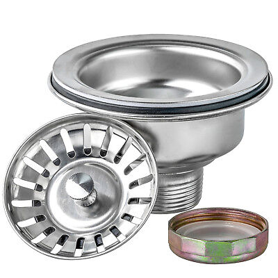 """3.5"""" Multi Layer Stainless Steel Kitchen Sink Drain & Strainer Replacement Set"""
