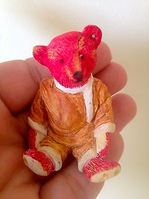 RARE Steiff ALFONSO RED BEAR- resin figurine miniature NICE-BUY NOW-NO RESERVE!