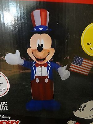 DISNEY MICKEY MOUSE AIRBLOWN INFLATABLE JULY 4TH VETERANS MEMORIAL LABOR DAY new