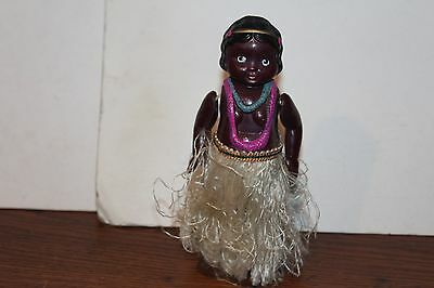 NICE CELLULOID WIND UP BLACK HAWAIIAN HULA DANCER  Made in Occupied Japan