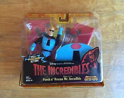 The Incredibles Punch 'n Rescue MR INCREDIBLE Figure Blue Mr Incredible Toy NEW