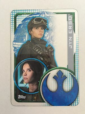 Star Wars - Rogue One (TOPPS collector cards) Jyn - Clear Plastic Insert Card