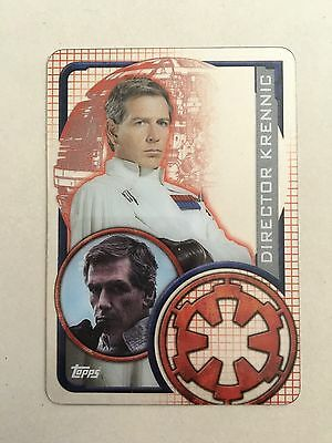 Star Wars - Rogue One (TOPPS collector card) Krennic - Clear Plastic Insert Card