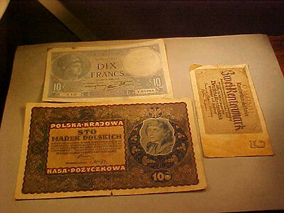 Poland France And Germany Banknotes