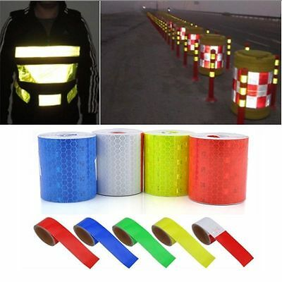 """2"""" x 10' 3M Multicolor Reflective Safety Warning Conspicuity Tape Film Sticker V"""