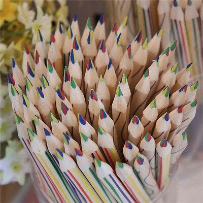 1PC/5PC/15PC/20PC Rainbow Pencil 4 in 1 Colored Drawing Painting Pencil Practice