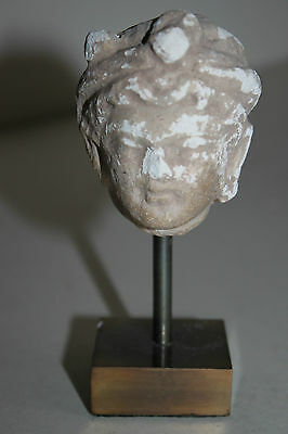 Ancient Indo Greek  Buddhist Buddha  Head 200/400 Ad God