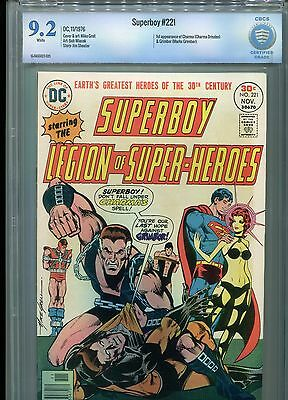 Superboy #221 CBCS 9.2 (1976) Legion of Super-Heroes Not CGC White Pages