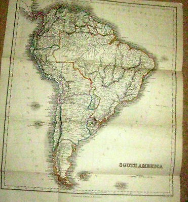 Original Victorian Map 1874 South America Inc Railways Map Is 142 Years Old