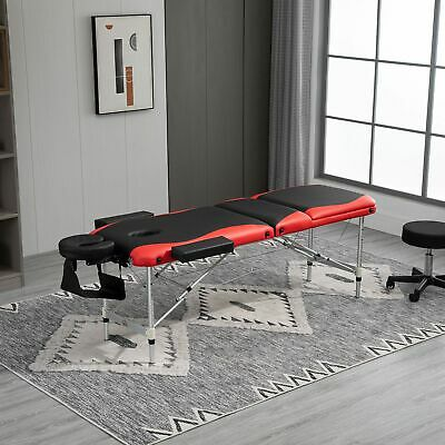 Portable Massage Table Lightweight Couch Bed 3 Section Folding
