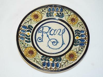 Nice Fouillen Quimper dish with name.