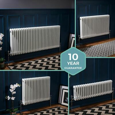 Traditional Column Radiators Horizontal Central Heating Cast Iron Style White